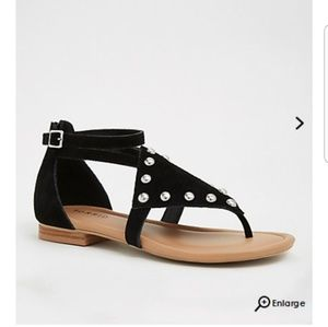Torrid Faux Suede Studded Sandal 12 wide